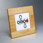 Bamboo Plaque with Digi-Color on White Tile Achievement Awards