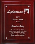 Lasered Lucite on Mahogany Finish Board Acrylic Plaques