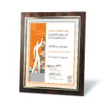 Certificate Frame with Metallized Accent Certificate Plaques