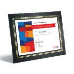 Leatherette Frame Certificate Plaques