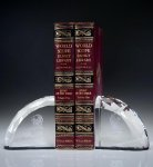 Faceted Bookends Clear Optical Crystal Awards