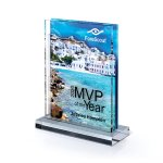 Multi-Dimensional Lucite with Center Cutout Colored Acrylic Awards