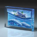 Lucite Infusion Embedded Imprint Colored Acrylic Awards