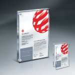 Magnetic Entrapment with Lasered Clear Front  and Clear Back Lucite Colored Acrylic Awards