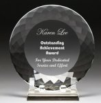 Corporate Crystal Facet Plates Crystal Glass Awards