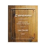 Reclaimed Wood Plaque - 10.5 X 13 Employee Awards