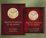 Piano Finish Wood Plaque Clock Functional Awards