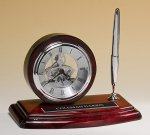 Piano-Finish Clock and Pen Set Functional Awards