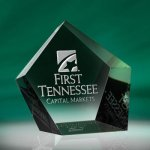 Pentangle Paper Weight Functional Awards