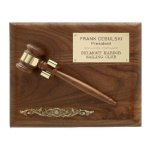 Removable Wooden Gavel Plaque Gavel Plaques
