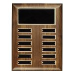 Walnut Perpetual Plaque Golf Awards