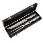 Stianless Steel 2 Piece Carving Set in Black Box  Kitchen Gifts