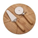 Pizza Board with 2 Utensils Kitchen Gifts