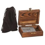 Wood Box with 9 Whiskey Stones & Pouch Misc. Gift Awards