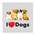 Canvas I Love (Heart) Dogs  Misc. Gift Awards
