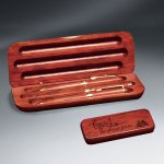 Rosewood Pen - Pencil - Letter Opener and Case Set Misc. Gift Awards