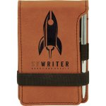 Leatherette Notepad and Pen -Rawhide Misc. Gift Awards