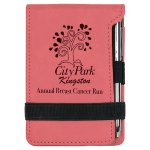 Leatherette Notepad and Pen -Pink Misc. Gift Awards