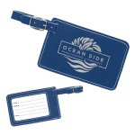 Leatherette Luggage Tag -Blue/Silver Misc. Gift Awards