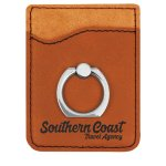Leatherette Phone Wallet With Ring -Rawhide Misc. Gift Awards