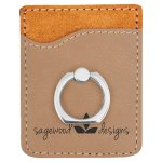 Leatherette Phone Wallet With Ring -Light Brown Misc. Gift Awards