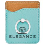 Leatherette Phone Wallet With Ring -Teal Misc. Gift Awards