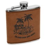 Leatherette Flask -Dark Brown Misc. Gift Awards