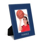 Leatherette Photo Frame -Blue/Silver Misc. Gift Awards
