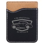 Leatherette Phone Wallet -Black/Silver Misc. Gift Awards