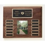 Walnut Perpetual Photo Plaque Monthly Perpetual Plaques