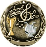 Tri-Colored Series Medals -Music Music Trophy Awards
