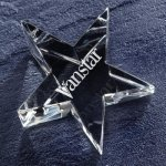 Optic Star Paper Weight Paperweight Crystal Awards