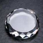 Gem Cut Round Paperweights