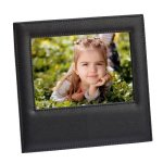 Black Leather Frame  Photo Gift Items