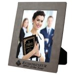 Leatherette Photo Frame -Gray Photo Gift Items