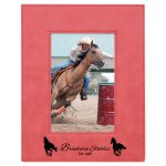 Leatherette Photo Frame -Pink Photo Gift Items