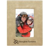 Leatherette Photo Frame -Light Brown Photo Gift Items