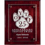 Rosewood Piano Finish Board with Raised Glass Piano Finish Plaques