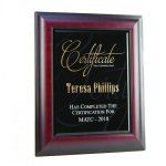 Framed Honor Piano Finish Plaques