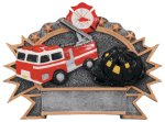 Resin Plate - Fire Fighter  Professional Service Resin Trophy Awards