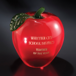 Red Apple Red Optical Crystal Awards