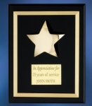 Acrylic Plaque with Brass Star Religious Awards