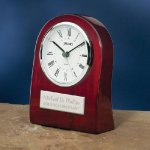 Piano Wood Clock with Curved Profile Religious Awards