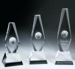 Diamond Globe Trophy Crystal Award Sales Awards