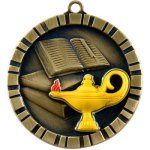 3-D IM Medals -Lamp of Knowledge Scholastic Trophy Awards