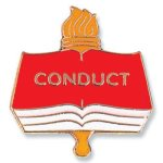 Conduct Lapel Pin Scholastic Trophy Awards