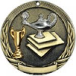 Tri-Colored Series Medals -Lamp of Knowledge  Scholastic Trophy Awards