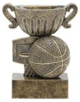 Sport Cup Antique Gold -Basketball Sport Cup Resin Trophy Awards