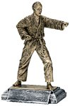 Resin Figure - Karate Male  Sports Action Resin Trophy Awards