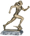 Resin Figure - Track Female  Sports Action Resin Trophy Awards